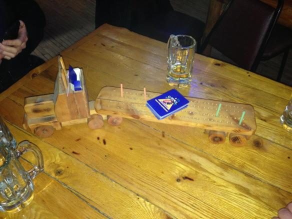 Semi Truck Cribbage Board