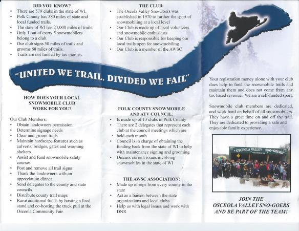 Sno-Goers Trifold
